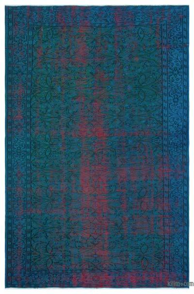 Over-dyed Turkish Vintage Rug - 5'9'' x 8'7'' (69 in. x 103 in.)