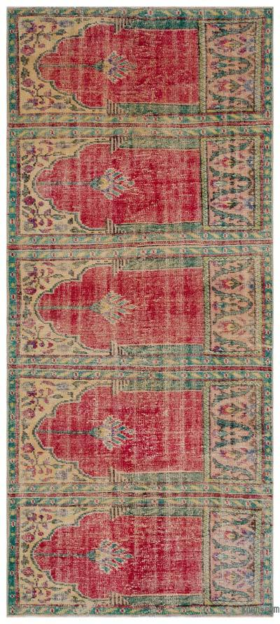 Turkish Vintage Rug - 4'1'' x 9'1'' (49 in. x 109 in.)