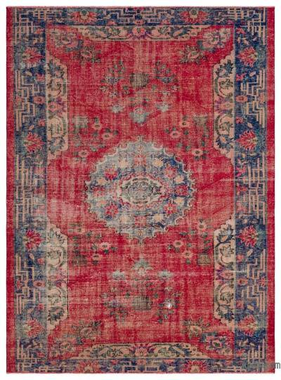 Turkish Vintage Rug - 6'6'' x 8'10'' (78 in. x 106 in.)