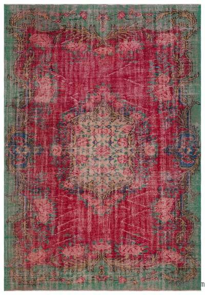 Turkish Vintage Rug - 6'8'' x 9'6'' (80 in. x 114 in.)