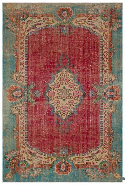 Turkish Vintage Rug - 6'5'' x 9'3'' (77 in. x 111 in.)