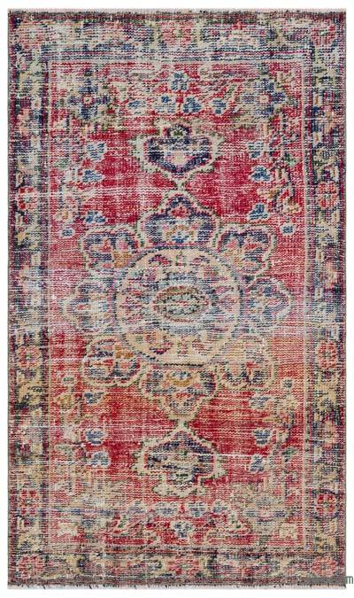Turkish Vintage Rug - 2'7'' x 4'5'' (31 in. x 53 in.)