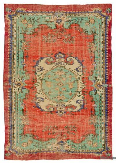Turkish Vintage Rug - 6'6'' x 9'2'' (78 in. x 110 in.)