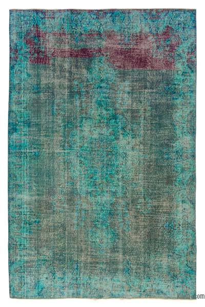 "Over-dyed Turkish Vintage Rug - 6'9"" x 10'4"" (81 in. x 124 in.)"