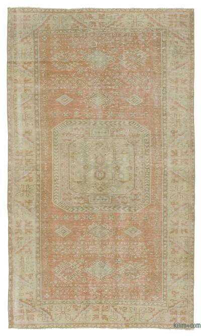 Turkish Vintage Area Rug - 4'7'' x 7'9'' (55 in. x 93 in.)