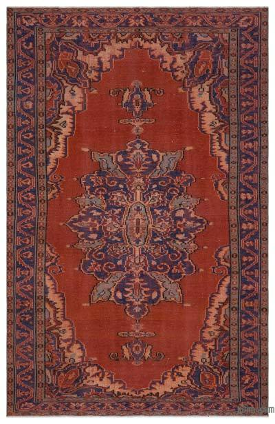 Turkish Vintage Area Rug - 5'7'' x 8'8'' (67 in. x 104 in.)