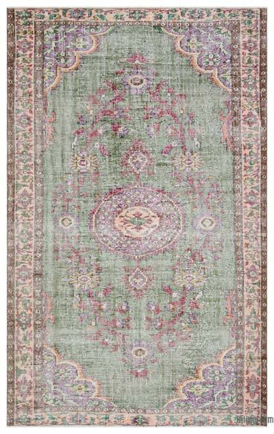 Turkish Vintage Area Rug - 5'6'' x 8'11'' (66 in. x 107 in.)