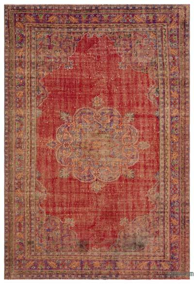 Turkish Vintage Area Rug - 6'6'' x 9'4'' (78 in. x 112 in.)