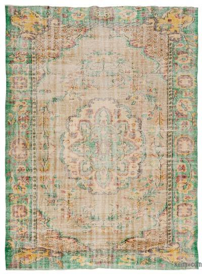 Turkish Vintage Area Rug - 6'7'' x 9'3'' (79 in. x 111 in.)