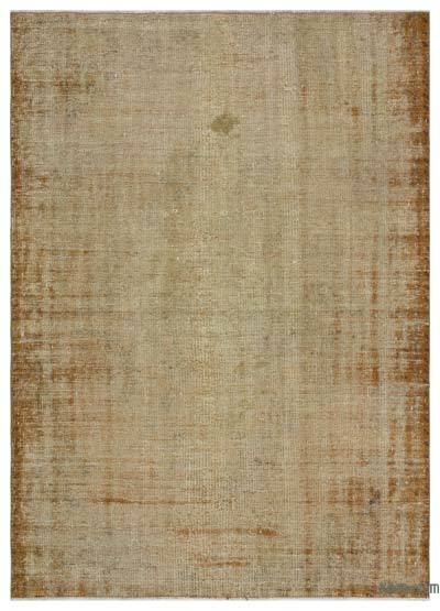 Brown Over-dyed Turkish Vintage Rug - 5'7'' x 7'7'' (67 in. x 91 in.)