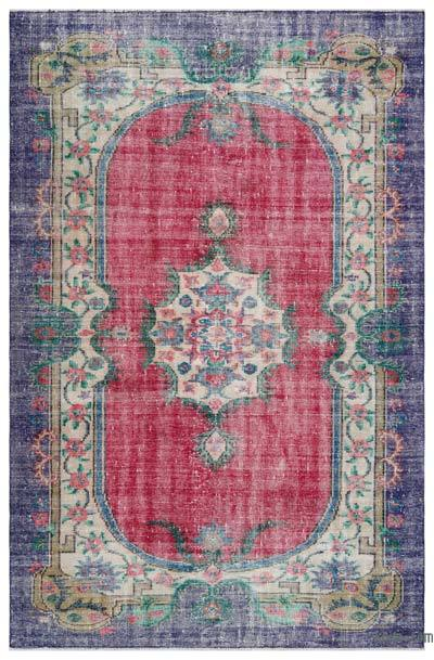 Turkish Vintage Area Rug - 5'9'' x 9'1'' (69 in. x 109 in.)