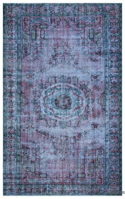 "Over-dyed Turkish Vintage Rug - 5'10"" x 9'5"" (70 in. x 113 in.)"