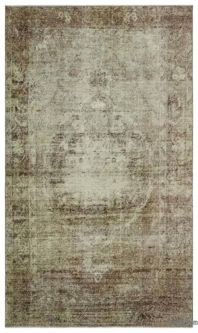 Brown Over-dyed Turkish Vintage Rug - 5' x 8'7'' (60 in. x 103 in.)
