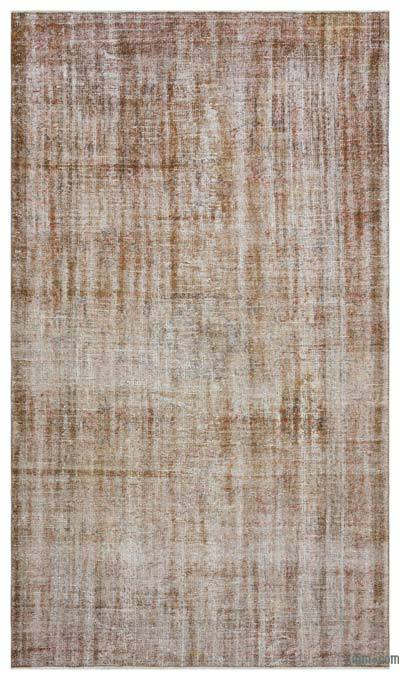 Brown Over-dyed Turkish Vintage Rug - 5'3'' x 8'11'' (63 in. x 107 in.)