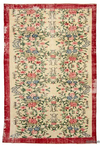 "Turkish Vintage Area Rug - 5'10"" x 8'10"" (70 in. x 106 in.)"