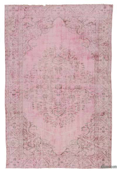 Pink Over-dyed Turkish Vintage Rug - 5'5'' x 8'6'' (65 in. x 102 in.)