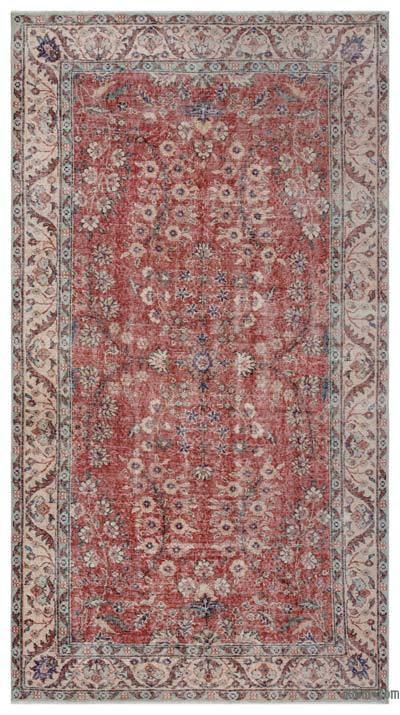 Turkish Vintage Rug - 4'9'' x 8'8'' (57 in. x 104 in.)