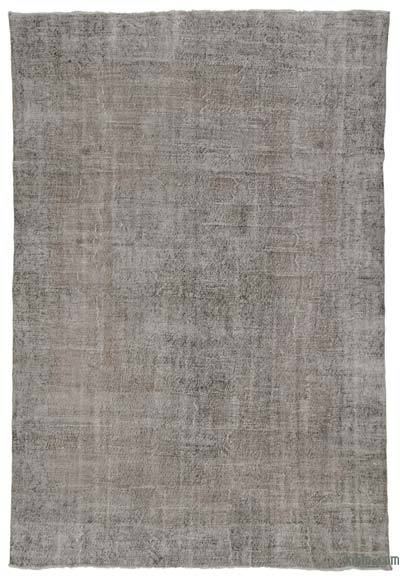 Grey Over-dyed Turkish Vintage Rug - 9'1'' x 13'1'' (109 in. x 157 in.)