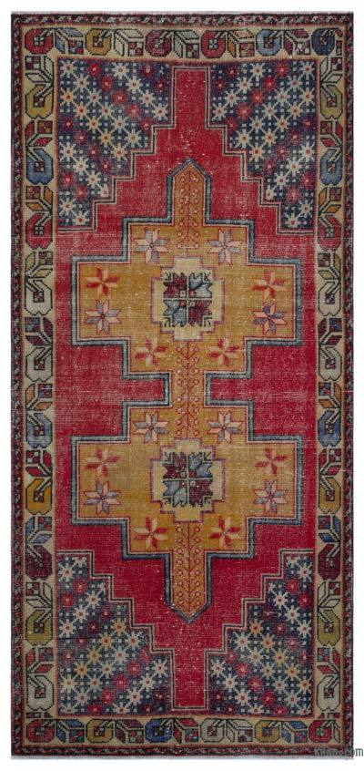 Turkish Vintage Rug - 3'8'' x 8'1'' (44 in. x 97 in.)