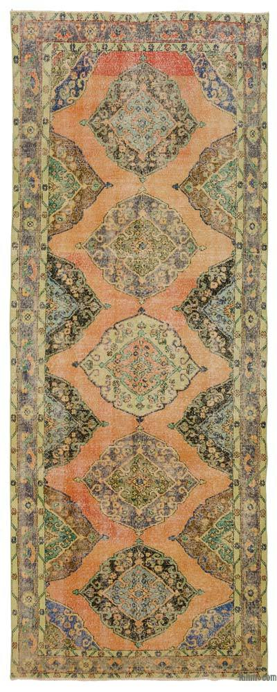 Turkish Vintage Rug - 4'9'' x 12'6'' (57 in. x 150 in.)