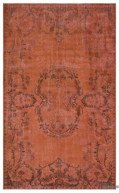 Orange Over-dyed Turkish Vintage Rug - 6'3'' x 10' (75 in. x 120 in.)