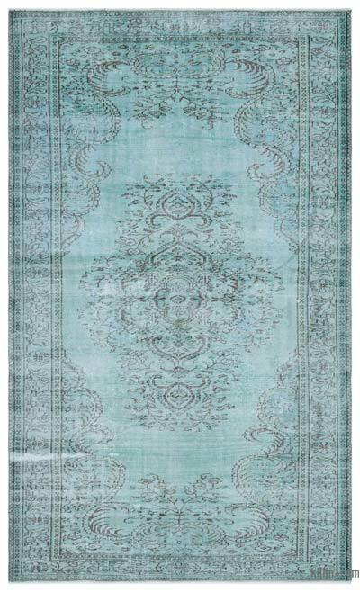 Blue Over-dyed Turkish Vintage Rug - 6' x 10' (72 in. x 120 in.)