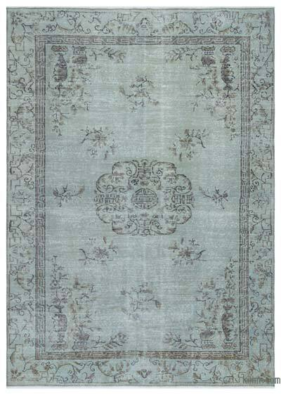 "Over-dyed Turkish Vintage Rug - 6'2"" x 8'9"" (74 in. x 105 in.)"