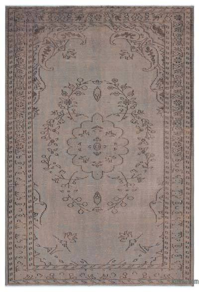 Grey Over-dyed Turkish Vintage Rug - 5'7'' x 8'2'' (67 in. x 98 in.)