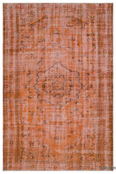 Orange Over-dyed Turkish Vintage Rug - 6' x 9'1'' (72 in. x 109 in.)