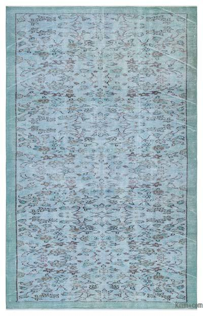 Blue Over-dyed Turkish Vintage Rug - 4'9'' x 7'7'' (57 in. x 91 in.)