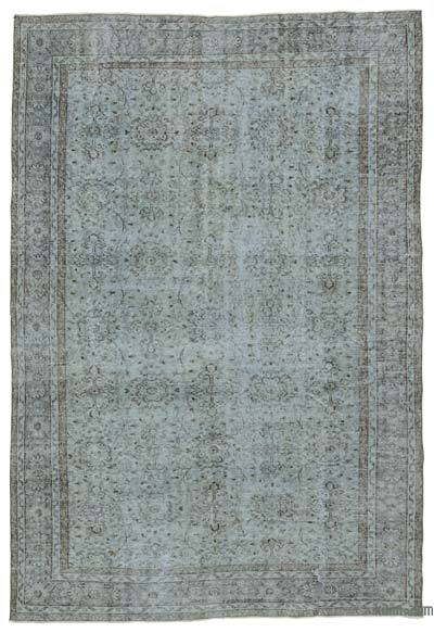 Grey Over-dyed Turkish Vintage Rug - 6'8'' x 9'9'' (80 in. x 117 in.)