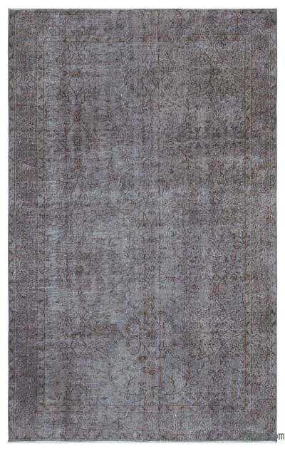 Grey Over-dyed Turkish Vintage Rug - 4'11'' x 8' (59 in. x 96 in.)