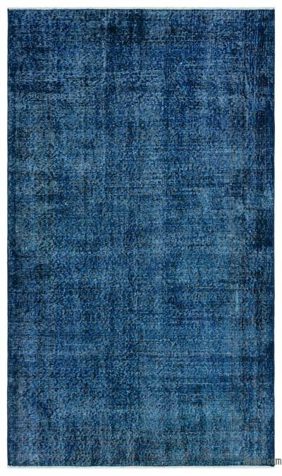 Blue Over-dyed Turkish Vintage Rug - 3'8'' x 6'5'' (44 in. x 77 in.)