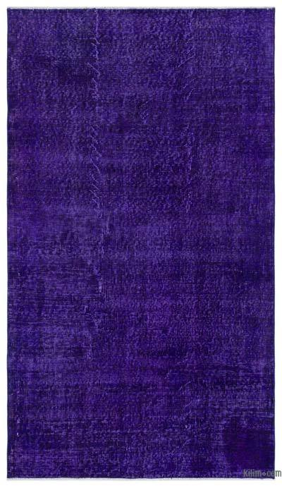 Purple Over-dyed Turkish Vintage Rug - 3'10'' x 6'9'' (46 in. x 81 in.)