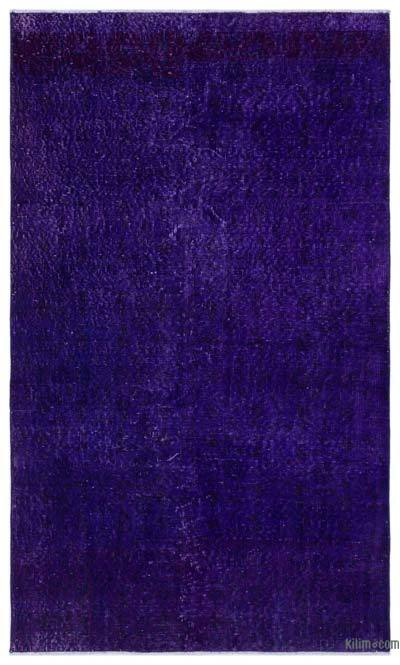 Purple Over-dyed Turkish Vintage Rug - 3'11'' x 6'8'' (47 in. x 80 in.)
