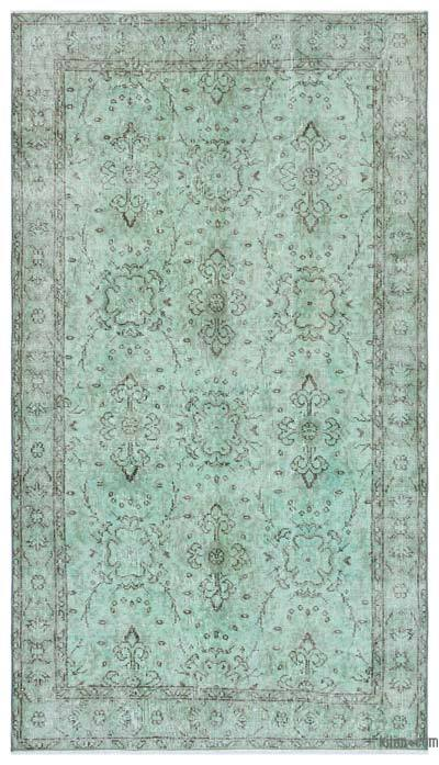 Green Over-dyed Turkish Vintage Rug - 3'10'' x 6'9'' (46 in. x 81 in.)