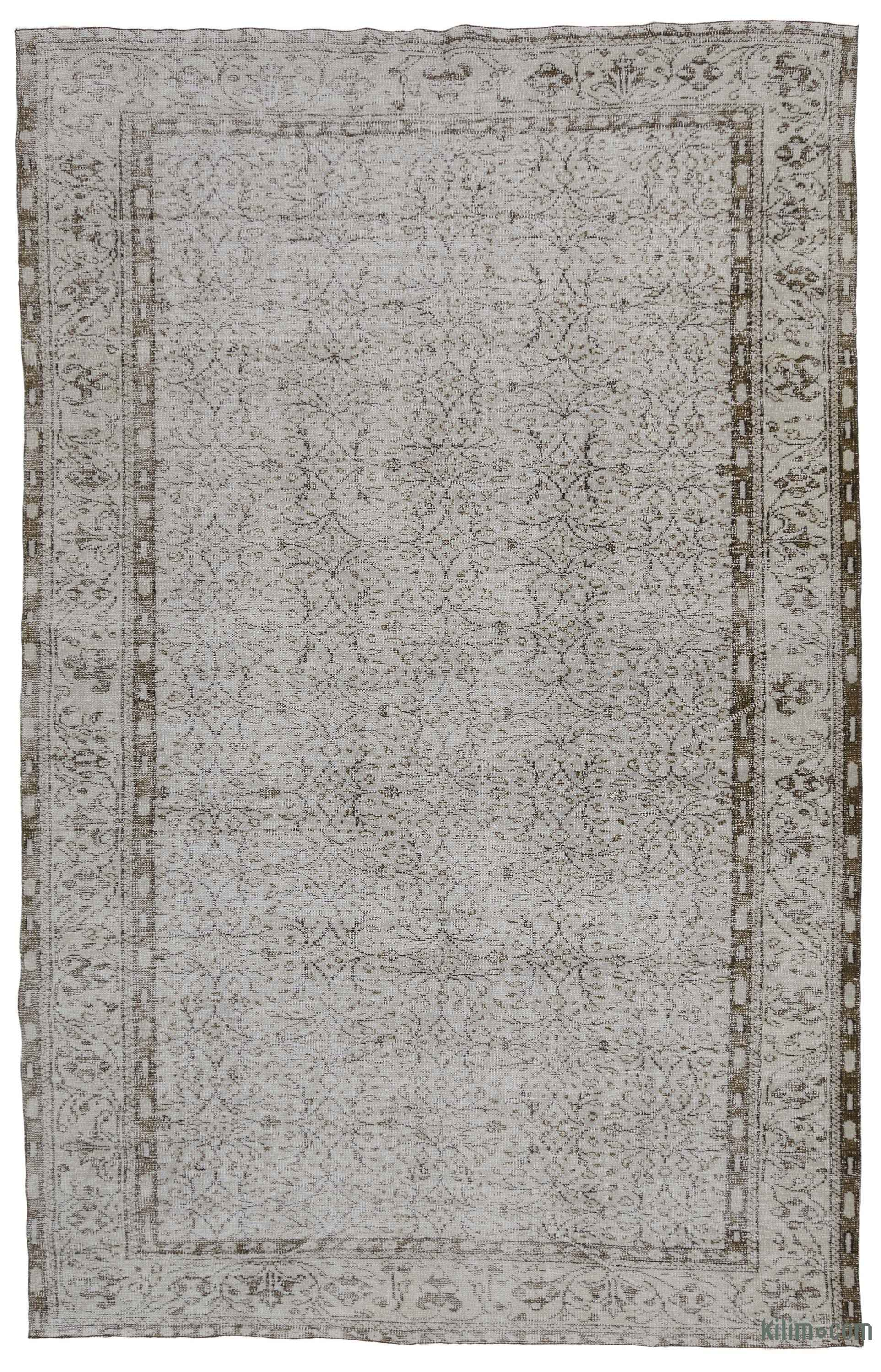 K0035073 Grey Over Dyed Turkish Vintage Rug 6 7 X 10 3 79 In 123 Kilim The Source For Authentic Rugs Kilims