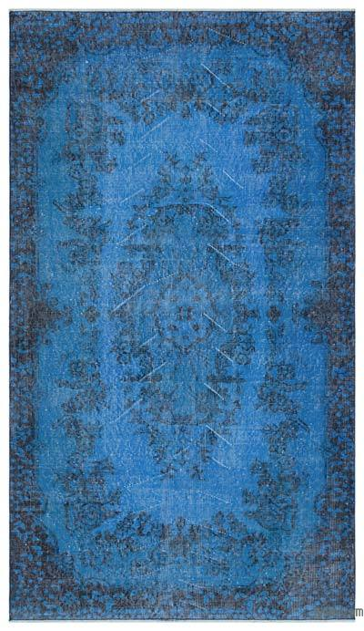Blue Over-dyed Turkish Vintage Rug - 3'10'' x 6'11'' (46 in. x 83 in.)