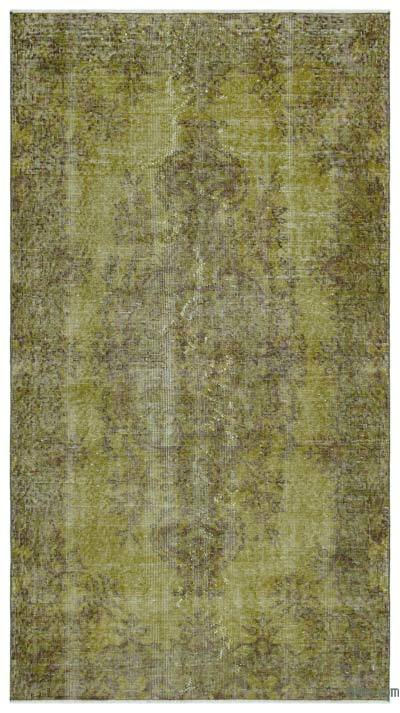 Green Over-dyed Turkish Vintage Rug - 3'10'' x 6'11'' (46 in. x 83 in.)