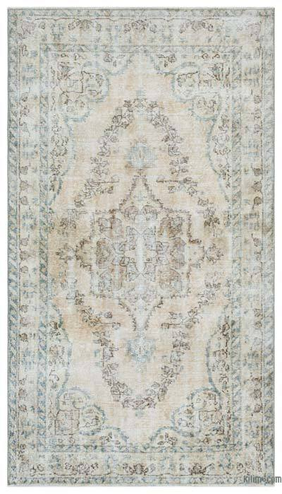 Beige Turkish Vintage Rug - 3'9'' x 6'5'' (45 in. x 77 in.)