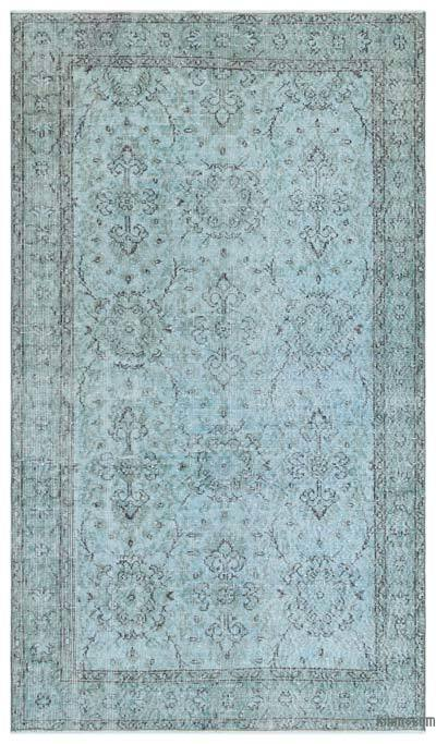 Blue Over-dyed Turkish Vintage Rug - 3'11'' x 6'11'' (47 in. x 83 in.)