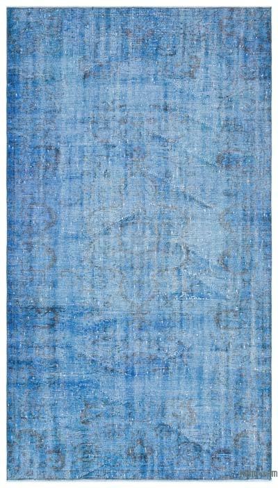 Blue Over-dyed Turkish Vintage Rug - 4'4'' x 7'7'' (52 in. x 91 in.)