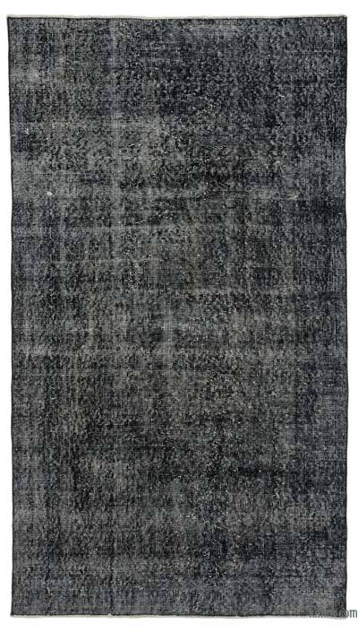 Black Over-dyed Turkish Vintage Rug - 3'10'' x 6'9'' (46 in. x 81 in.)