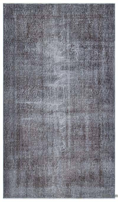Grey Over-dyed Turkish Vintage Rug - 3'11'' x 6'7'' (47 in. x 79 in.)