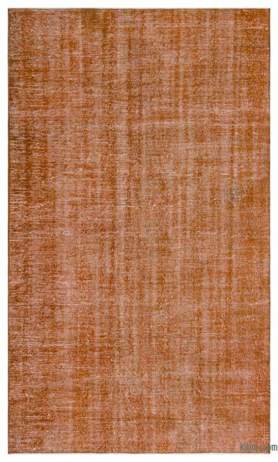 Orange Over-dyed Turkish Vintage Rug - 5' x 8'5'' (60 in. x 101 in.)