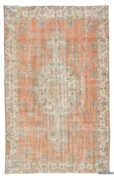 Turkish Vintage Area Rug - 5'11'' x 9'3'' (71 in. x 111 in.)