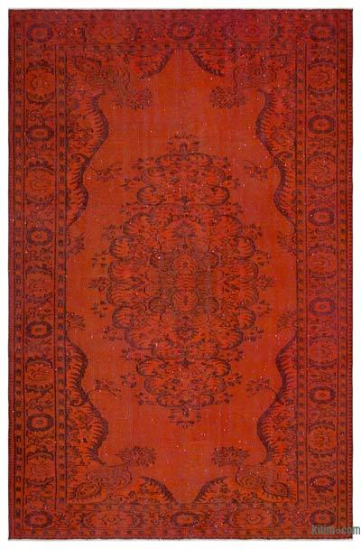 "Over-dyed Turkish Vintage Rug - 6'5"" x 9'8"" (77 in. x 116 in.)"