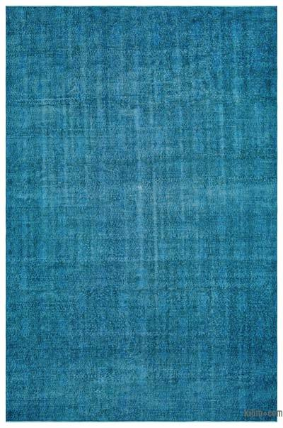 Turquoise Over-dyed Turkish Vintage Rug - 7'1'' x 10'11'' (85 in. x 131 in.)