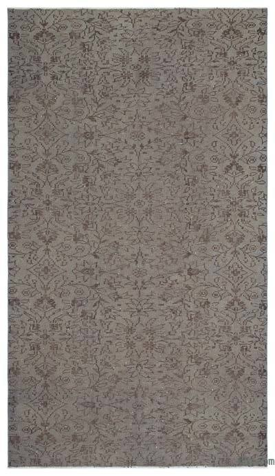 Grey Over-dyed Turkish Vintage Rug - 5'1'' x 9'1'' (61 in. x 109 in.)
