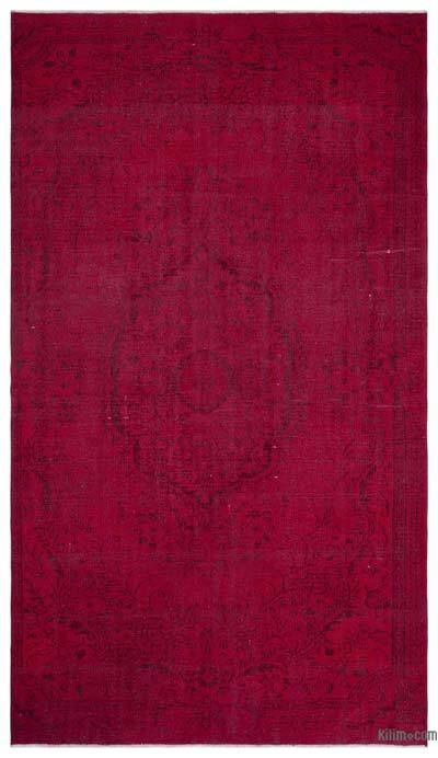 Red Over-dyed Turkish Vintage Rug - 6' x 10'5'' (72 in. x 125 in.)